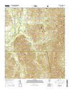 White Oak Mississippi Current topographic map, 1:24000 scale, 7.5 X 7.5 Minute, Year 2015 from Mississippi Map Store