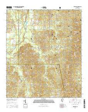 White Oak Mississippi Current topographic map, 1:24000 scale, 7.5 X 7.5 Minute, Year 2015 from Mississippi Maps Store