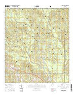 White Plains Mississippi Current topographic map, 1:24000 scale, 7.5 X 7.5 Minute, Year 2015 from Mississippi Map Store