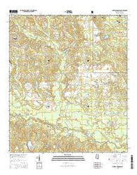 Whites Crossing Mississippi Current topographic map, 1:24000 scale, 7.5 X 7.5 Minute, Year 2015