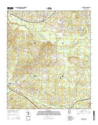 Whitfield Mississippi Current topographic map, 1:24000 scale, 7.5 X 7.5 Minute, Year 2015
