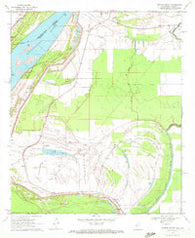 Whiting Bayou Mississippi Historical topographic map, 1:24000 scale, 7.5 X 7.5 Minute, Year 1970