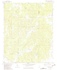 Whitten Town Mississippi Historical topographic map, 1:24000 scale, 7.5 X 7.5 Minute, Year 1982
