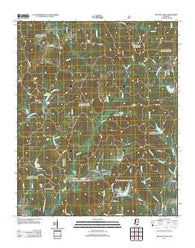 Whitten Town Mississippi Historical topographic map, 1:24000 scale, 7.5 X 7.5 Minute, Year 2012
