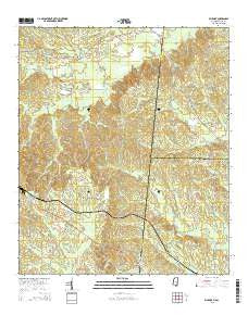 Whynot Mississippi Current topographic map, 1:24000 scale, 7.5 X 7.5 Minute, Year 2015