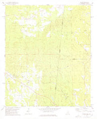 Whynot Mississippi Historical topographic map, 1:24000 scale, 7.5 X 7.5 Minute, Year 1978