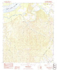 Widows Creek Mississippi Historical topographic map, 1:24000 scale, 7.5 X 7.5 Minute, Year 1986