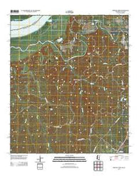 Widows Creek Mississippi Historical topographic map, 1:24000 scale, 7.5 X 7.5 Minute, Year 2012