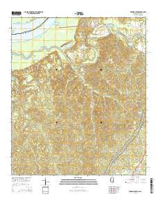 Widows Creek Mississippi Current topographic map, 1:24000 scale, 7.5 X 7.5 Minute, Year 2015