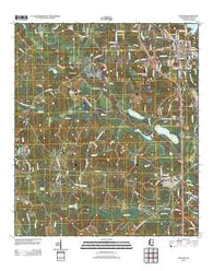 Wiggins Mississippi Historical topographic map, 1:24000 scale, 7.5 X 7.5 Minute, Year 2012