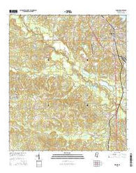 Wiggins Mississippi Current topographic map, 1:24000 scale, 7.5 X 7.5 Minute, Year 2015