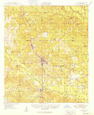 Wiggins Mississippi Historical topographic map, 1:62500 scale, 15 X 15 Minute, Year 1949