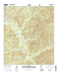 Wilkinson Mississippi Current topographic map, 1:24000 scale, 7.5 X 7.5 Minute, Year 2015