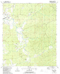 Wilkinson Mississippi Historical topographic map, 1:24000 scale, 7.5 X 7.5 Minute, Year 1988
