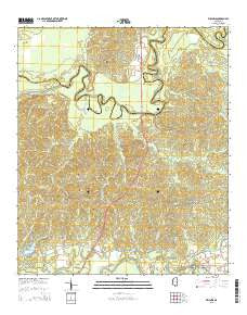 Willows Mississippi Current topographic map, 1:24000 scale, 7.5 X 7.5 Minute, Year 2015