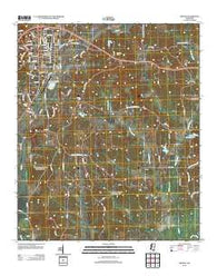 Winona Mississippi Historical topographic map, 1:24000 scale, 7.5 X 7.5 Minute, Year 2012