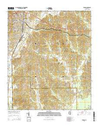 Winona Mississippi Current topographic map, 1:24000 scale, 7.5 X 7.5 Minute, Year 2015