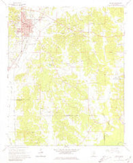 Winona Mississippi Historical topographic map, 1:24000 scale, 7.5 X 7.5 Minute, Year 1966