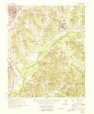Winona Mississippi Historical topographic map, 1:62500 scale, 15 X 15 Minute, Year 1968