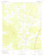 Woodland Mississippi Historical topographic map, 1:24000 scale, 7.5 X 7.5 Minute, Year 1972