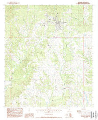 Woodville Mississippi Historical topographic map, 1:24000 scale, 7.5 X 7.5 Minute, Year 1988