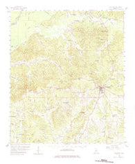 Woodville Mississippi Historical topographic map, 1:62500 scale, 15 X 15 Minute, Year 1958