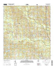 Wortham Mississippi Current topographic map, 1:24000 scale, 7.5 X 7.5 Minute, Year 2015 from Mississippi Maps Store