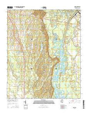 Wren Mississippi Current topographic map, 1:24000 scale, 7.5 X 7.5 Minute, Year 2015 from Mississippi Maps Store