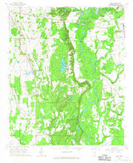 Wren Mississippi Historical topographic map, 1:24000 scale, 7.5 X 7.5 Minute, Year 1966