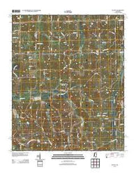 Wyatte Mississippi Historical topographic map, 1:24000 scale, 7.5 X 7.5 Minute, Year 2012