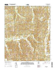 Wyatte Mississippi Current topographic map, 1:24000 scale, 7.5 X 7.5 Minute, Year 2015 from Mississippi Maps Store