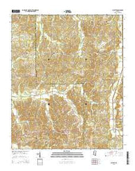 Wyatte Mississippi Current topographic map, 1:24000 scale, 7.5 X 7.5 Minute, Year 2015