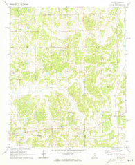Wyatte Mississippi Historical topographic map, 1:24000 scale, 7.5 X 7.5 Minute, Year 1971