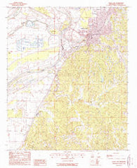 Yazoo City Mississippi Historical topographic map, 1:24000 scale, 7.5 X 7.5 Minute, Year 1988