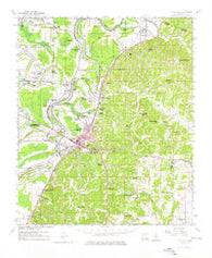 Yazoo City Mississippi Historical topographic map, 1:62500 scale, 15 X 15 Minute, Year 1961
