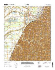Yazoo City Mississippi Current topographic map, 1:24000 scale, 7.5 X 7.5 Minute, Year 2015 from Mississippi Maps Store