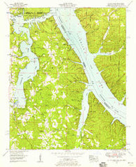 Yellow Creek Mississippi Historical topographic map, 1:24000 scale, 7.5 X 7.5 Minute, Year 1953