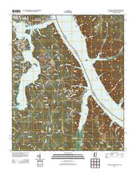 Yellow Creek Mississippi Historical topographic map, 1:24000 scale, 7.5 X 7.5 Minute, Year 2012