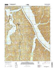 Yellow Creek Mississippi Current topographic map, 1:24000 scale, 7.5 X 7.5 Minute, Year 2015