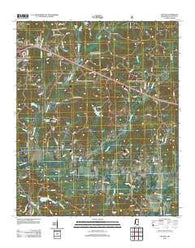 Yocona Mississippi Historical topographic map, 1:24000 scale, 7.5 X 7.5 Minute, Year 2012