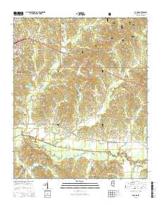 Yocona Mississippi Current topographic map, 1:24000 scale, 7.5 X 7.5 Minute, Year 2015