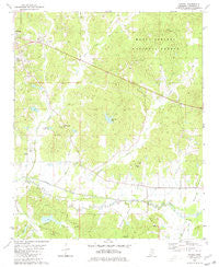 Yocona Mississippi Historical topographic map, 1:24000 scale, 7.5 X 7.5 Minute, Year 1980