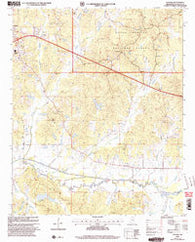 Yocona Mississippi Historical topographic map, 1:24000 scale, 7.5 X 7.5 Minute, Year 2000