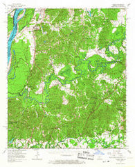 Yokena Mississippi Historical topographic map, 1:62500 scale, 15 X 15 Minute, Year 1966