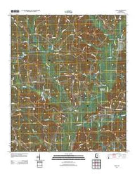 Zama Mississippi Historical topographic map, 1:24000 scale, 7.5 X 7.5 Minute, Year 2012