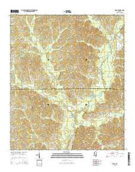 Zama Mississippi Current topographic map, 1:24000 scale, 7.5 X 7.5 Minute, Year 2015