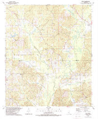 Zama Mississippi Historical topographic map, 1:24000 scale, 7.5 X 7.5 Minute, Year 1989