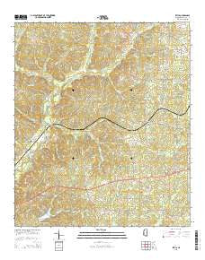 Zetus Mississippi Current topographic map, 1:24000 scale, 7.5 X 7.5 Minute, Year 2015