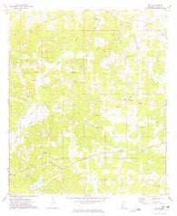 Zetus Mississippi Historical topographic map, 1:24000 scale, 7.5 X 7.5 Minute, Year 1972