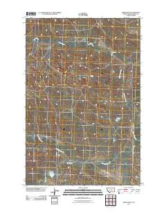 Akers Ranch Montana Historical topographic map, 1:24000 scale, 7.5 X 7.5 Minute, Year 2011